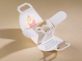 Bomboniera Porta Confetti Rosa aperto Battesimo