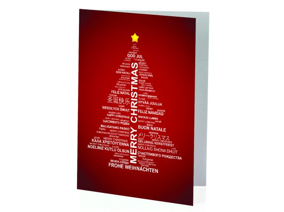 Biglietto di Natale Albero di Auguri