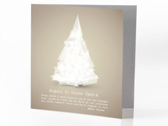 Biglietto Bianco Natale