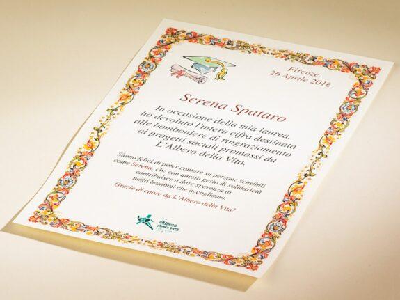Pergamena Solidale Laurea