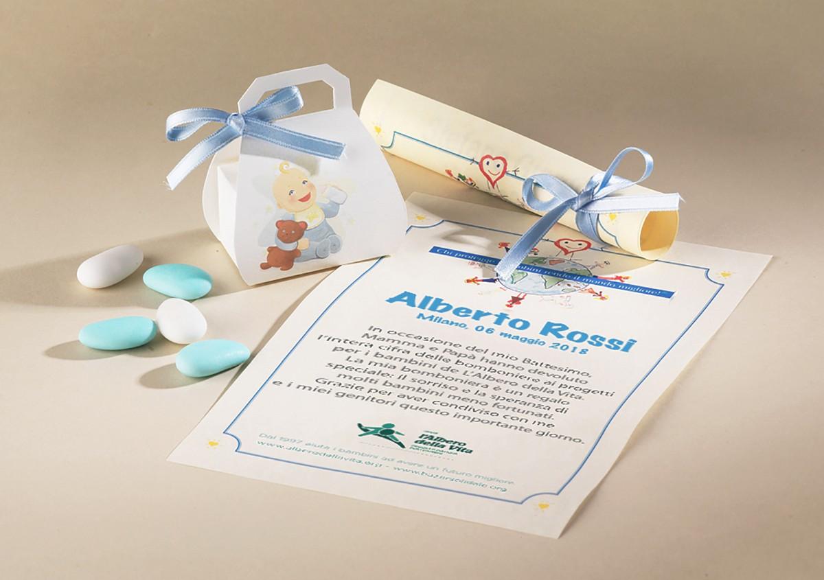 Bomboniere Di Carta Battesimo : Bomboniera girotondo battesimo bimba e bimbo