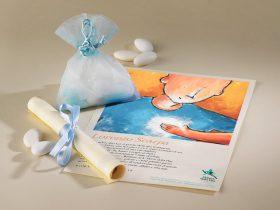 Bomboniera Solidale Luce del Cuore portaconfetti in organza e pergamena
